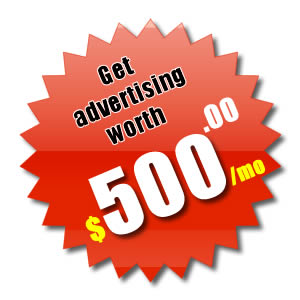 Get advertising worth 500 dollars with our epartner package